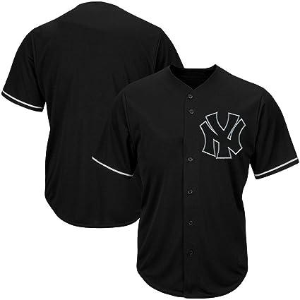 faed980c8b6e1 VF New York Yankees MLB para Hombre Majestic Negro Fashion Jersey Tallas  Grandes