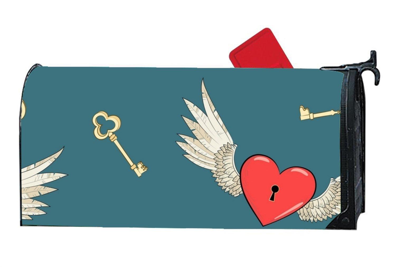 koasncne Home Heart Lock Summer Fall Magnetic Mailbox Cover