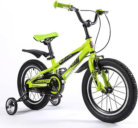 MAZHONG Bicicletas Bicicleta para Niños Verde Azul Tamaño: 16 ...
