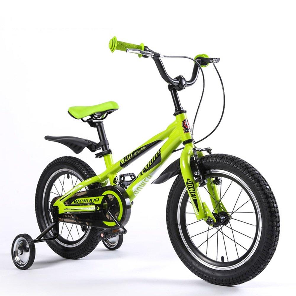 HAIZHEN マウンテンバイク 子供用自転車グリーンブルーサイズ:16インチアウトドアアウトレット 新生児 B07CCK9TRL 緑 緑