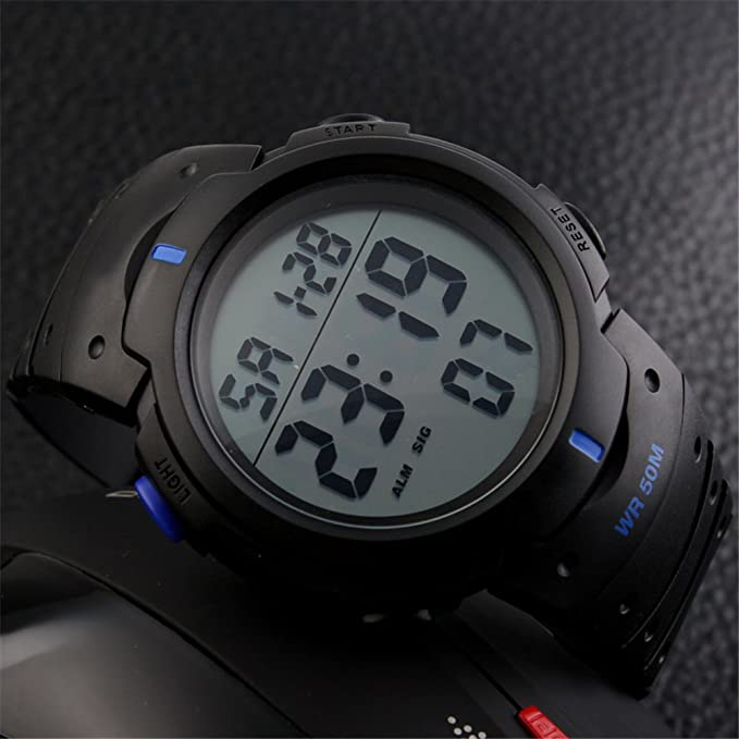 TTLIFE 1068 Reloj de Pulsera Deportivo Unisexo Digital Impermeable Multifuncional al aire libre para hombre y mujer (azul): Amazon.es: Relojes