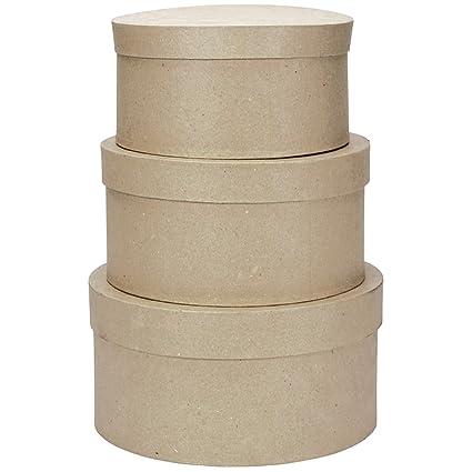 Darice – Plantilla para Grabar en Relieve Paper-Mache Caja Redonda de cartón -4