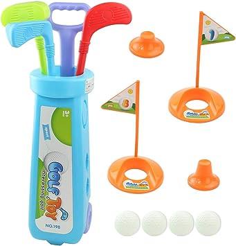 TONZE - Juego de Golf para niños, Juego de Pelota al Aire Libre, Juegos de Pelota, Juguetes