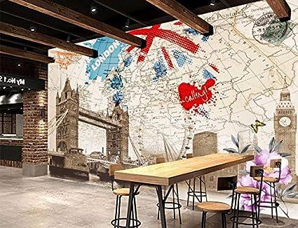 Yosot Custom 3d Mural British Style Retro London Building Map