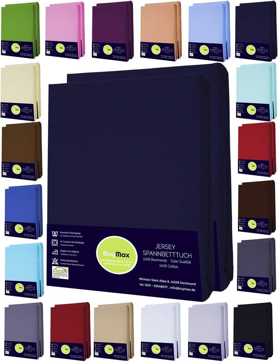 Doppelpack Babybettlaken Kinderbettlaken 60x120-70x140 cm aus Reiner Jersey Baumwolle Spannbettt/ücher Bettlaken Aubergine