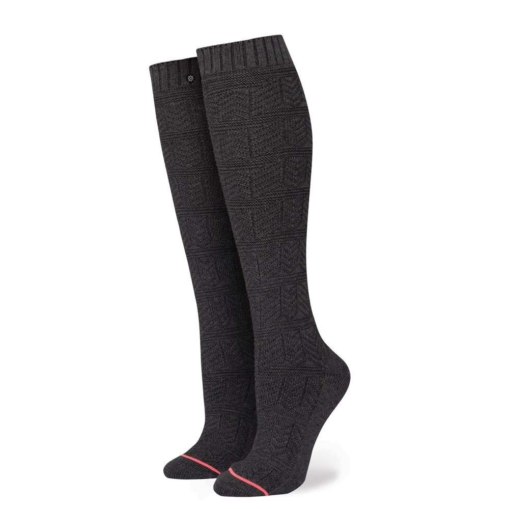 STANCE Women's Lunation Tall Boot Socks, Black, Small