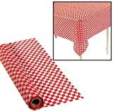 100' X 40'' Red And White Checkered Banquet Roll