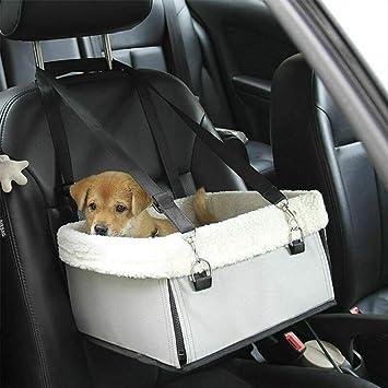 Hunde Autositz Einzelnsitz Für Rückbank Maso Tragbare Reise Haustierautositz Träger Mit Sicherheitsgurt Sticky Roller Für Unter 5kg Haustier Auto