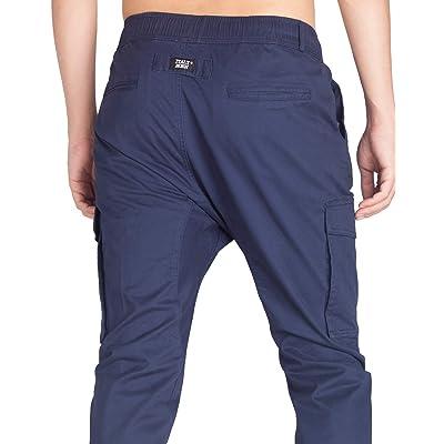 Men/'s Champion Small Logo Zip Pocket Elastic Waist Jogger Pants in Blue