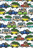 Christmas Vacation Gift Wrapping Paper Roll - 24'' X 15'