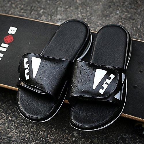 Xing Lin Sandalias De Hombre Nuevo Acolchado Zapatos De Hombre Zapatillas Tendencia Flip-Flops Sandalias Deporte Masculino Zapatillas Casual Negro 398887