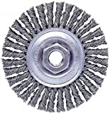 Weiler 13138 Stringer Bead Knot Wire Wheel, 4'' Diameter x 3/16'' W, 5/8-11 UNC, 0.02'' Stainless Steel, 20000 RPM (Pack of 5)