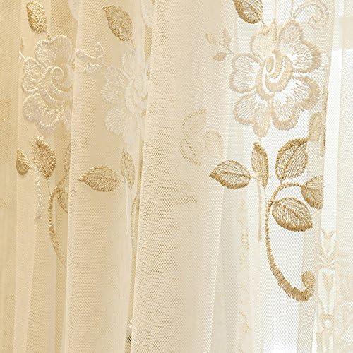 WPKIRA Rod Pocket Sheer Curtain Panels Window Curtain Sheer