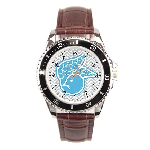 cnbluer mejor acero inoxidable relojes pájaro moderno gris Vintage muñeca relojes