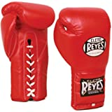 Cleto Reyes Boxing Training Gloves With laces and attached thumb - Red - 16-Ounce
