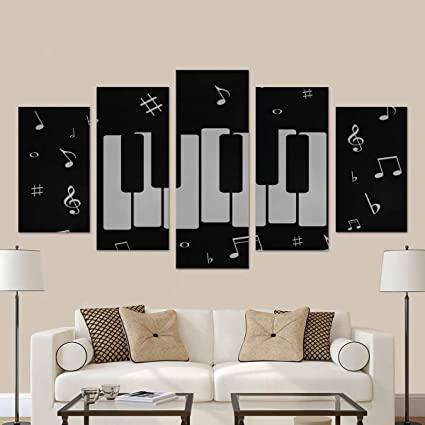 Amazon.com: InterestPrint Music Icon, with Piano and Musical Notes ...