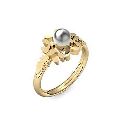 Schneeflocke Ring Gold Ring Akoya Perle Grau 585 Inkl Luxusetui