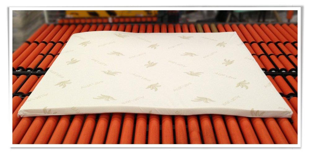 Memory Foam MiaSuite H3 Topper per Materasso con Rivestimento Sfoderabile Matrimoniale King Size 180x200x3 cm Beige