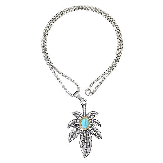 Amazon goros engraved pendants necklaces men titanium steel goros engraved pendants necklaces men titanium steel leaf jewelry gifts chains pendant necklace aloadofball Choice Image