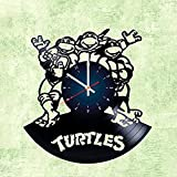 Teenage Mutant Ninja Turtles - Vinyl Record Wall Clock - Kids Room wall decor - Gift ideas for kids, girls, boys, teens - Cartoon Unique Art Design