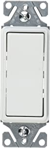 EATON 7521W-BOX 7521W-K-L Decorator Switch, 1 P, White