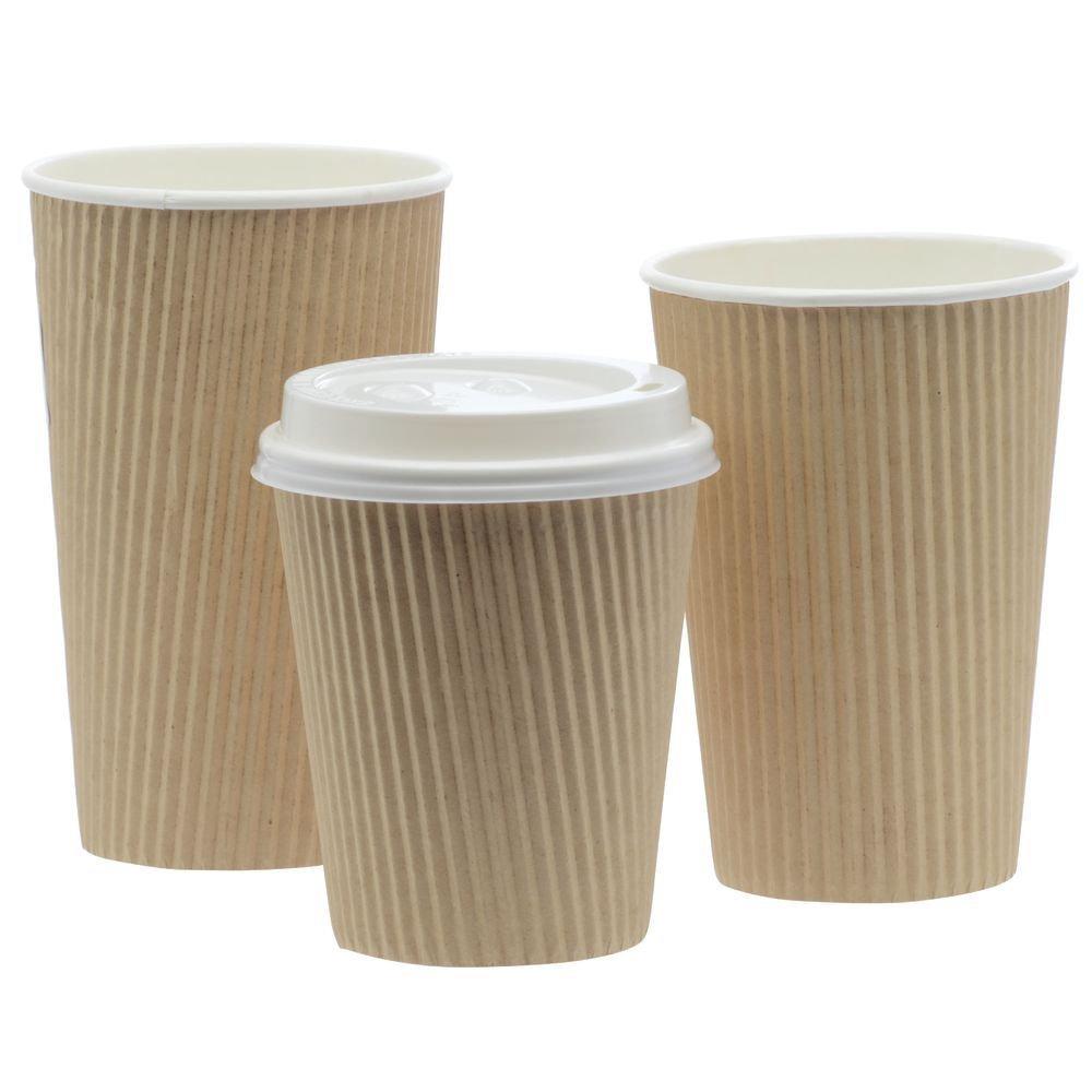 Natural Kraft Ripple Cup 20 oz - 3 1/2''Dia x 6''H 500 Per Case