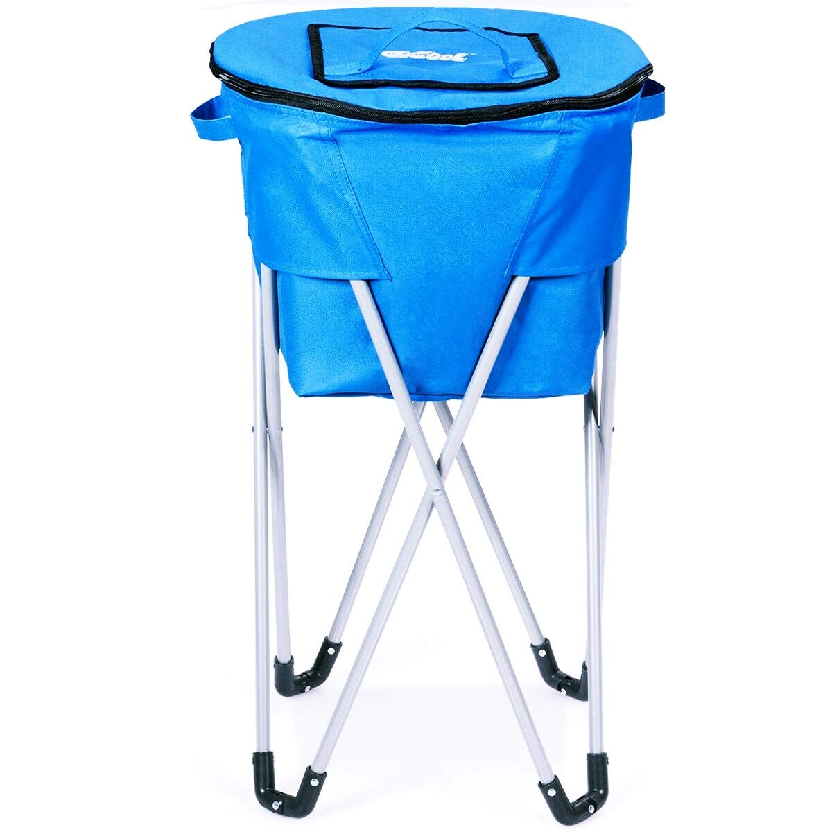 Lucky-gift - Portable Insulated Tub Party Picnic Cooler with Folding Stand - Food Serving Bar Salad Lunch Bag Colors Travel Plus Camping Table - Cooler Picnic Outdoor New Party Ice Insulated Inflatab by Lucky-gift