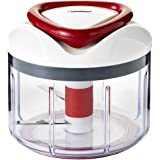 Zyliss EasyPull Manual Food Processor, 750 ml - White/Grey/Red