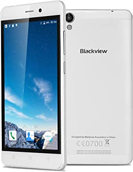 Blackview A8 - Smartphone Libre Android 5.1 (Quad-Core, IPS Pantalla 5.0, HD 1280x720P, 8Gb, Dual Sim, 8MP, Multi-Idioma, Gesto Inteligente, WiFi, GPS, Bluetooth) (Blanco): Amazon.es: Electrónica