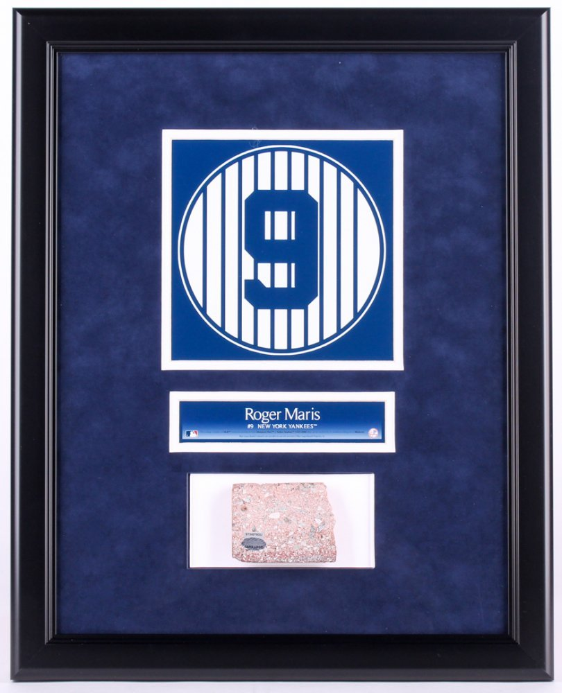 ROGER MARIS #9 OLD YANKEE STADIUM NY GAME USED MONUMENT PARK BRICK ...