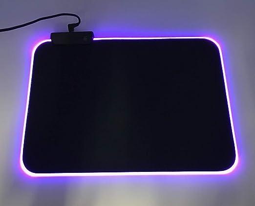 Talla M Carga USB Plug and Play GearZone Alfombrilla de rat/ón RGB Mouse Pad Gaming 9/Variantes RGB
