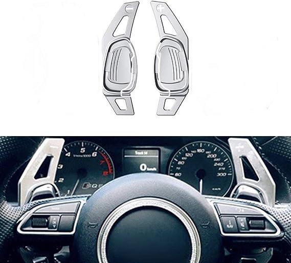 Emblem Trading Schaltwippen Verlängerung Shift Paddels Passend Für S3 Rs3 S4 Rs4 S5 Rs5 S6 Rs6 Tt R8 In Silber Auto