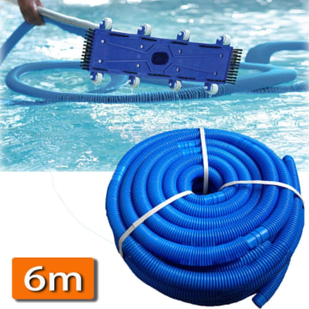 CHUWUJU Pool Hose,Pool Vacuum Hose,Resistant Practical Flexible Hose Connector,Spiral Wound Swimming Pool Vacuum Hose,Ø 38 mm, Divisible Every 1 m, Length: 6 m
