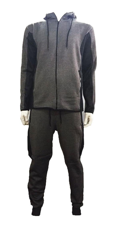 Kids Boys Contrast Mesh Hooded Tracksuit Top /& Slim Fit Jog Pants 3-13 YEARS