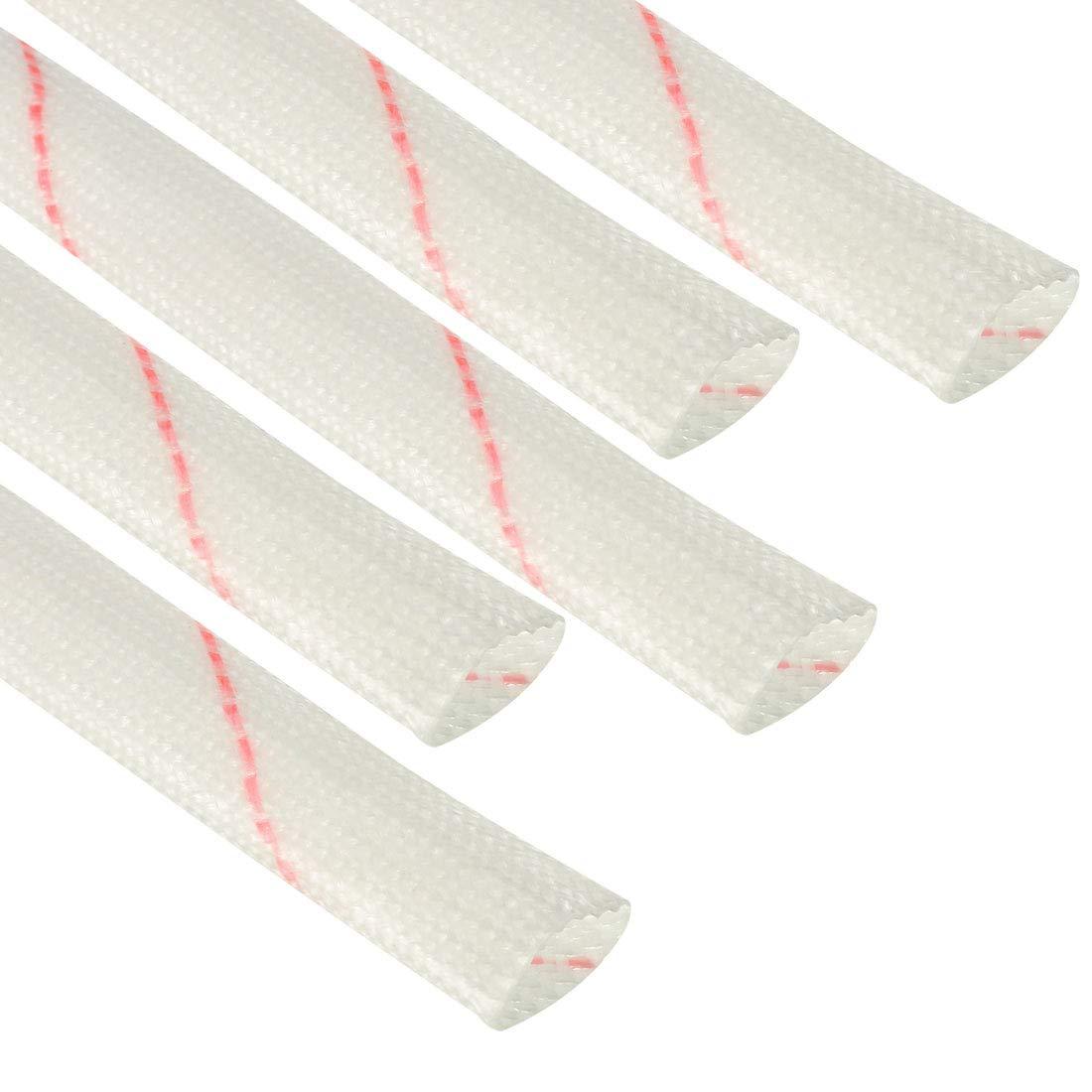 Sourcing Map Fiberglash/ülse PVC Isolierung Rohr 1500V Schlauch Verstellbare H/ülse Rohr 125 Grad Celsius Kabelumwicklung Dr/ähte