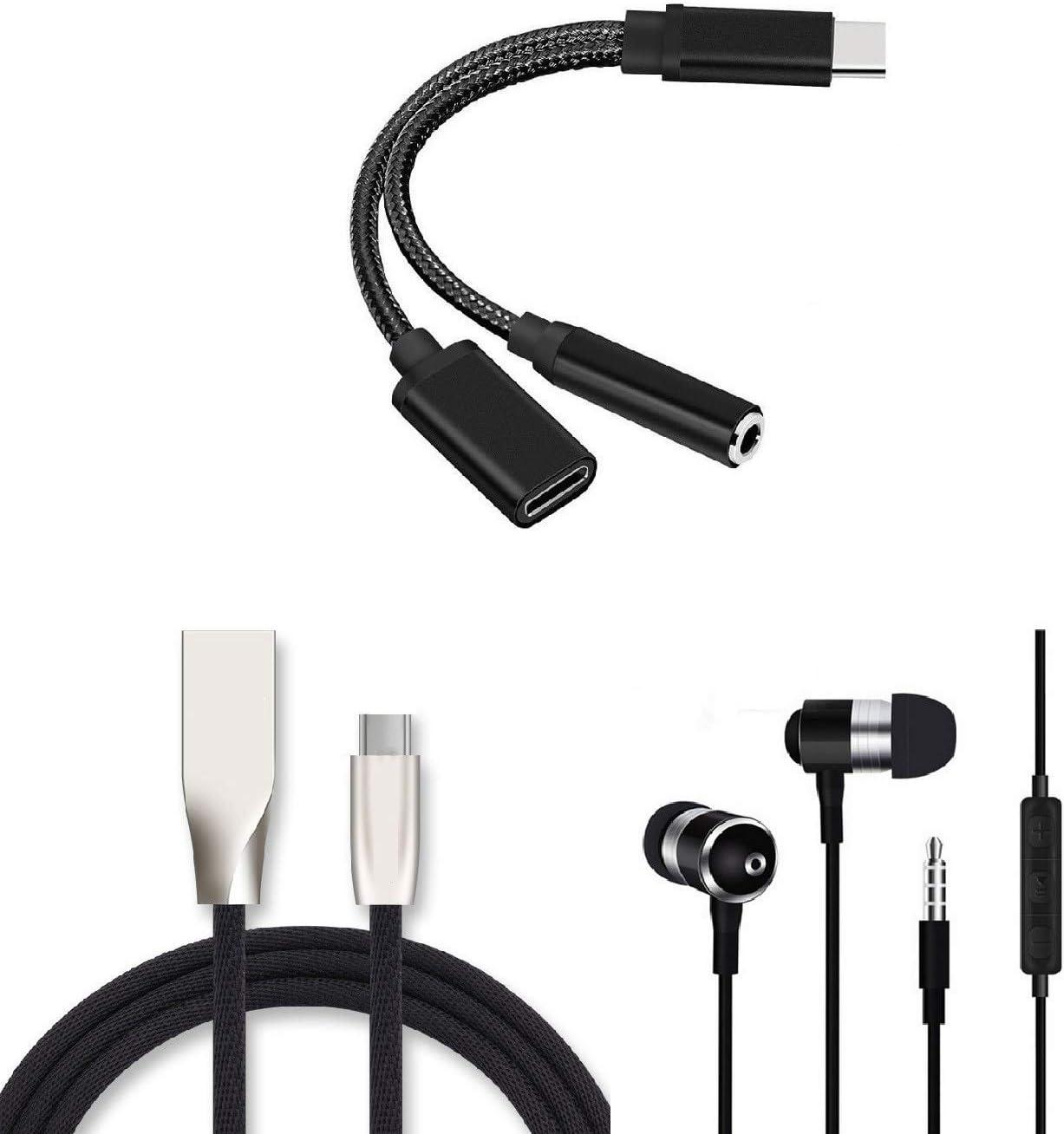 Shot Case Pack para Sony Xperia L1 (Adaptador Tipo C/Jack + Cable de Carga Tipo C + Auriculares metálicos) (Negro): Amazon.es: Electrónica