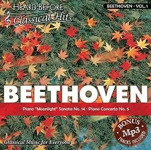 """Beethoven [vol. 1]: Piano """"""""Moonlight"""""""" Sonata No. 14, Piano Concerto No. 5"""