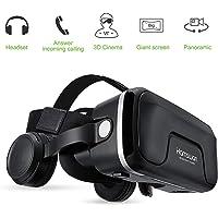 HAMSWAN Casque VR, Lunettes 3D Réalité Virtuelle avec Casque Intégré pour iPhone, Samsung et Autres Smartphone (4.0 à 6.0 Pouces)