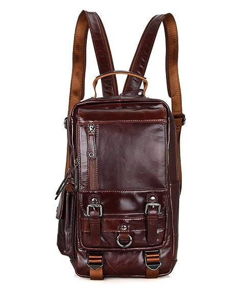 1496fa024 mochila negro Show Piel complementos Zapatos es para Amazon Bolso Marrón  mujer Yan de y RAEaxx
