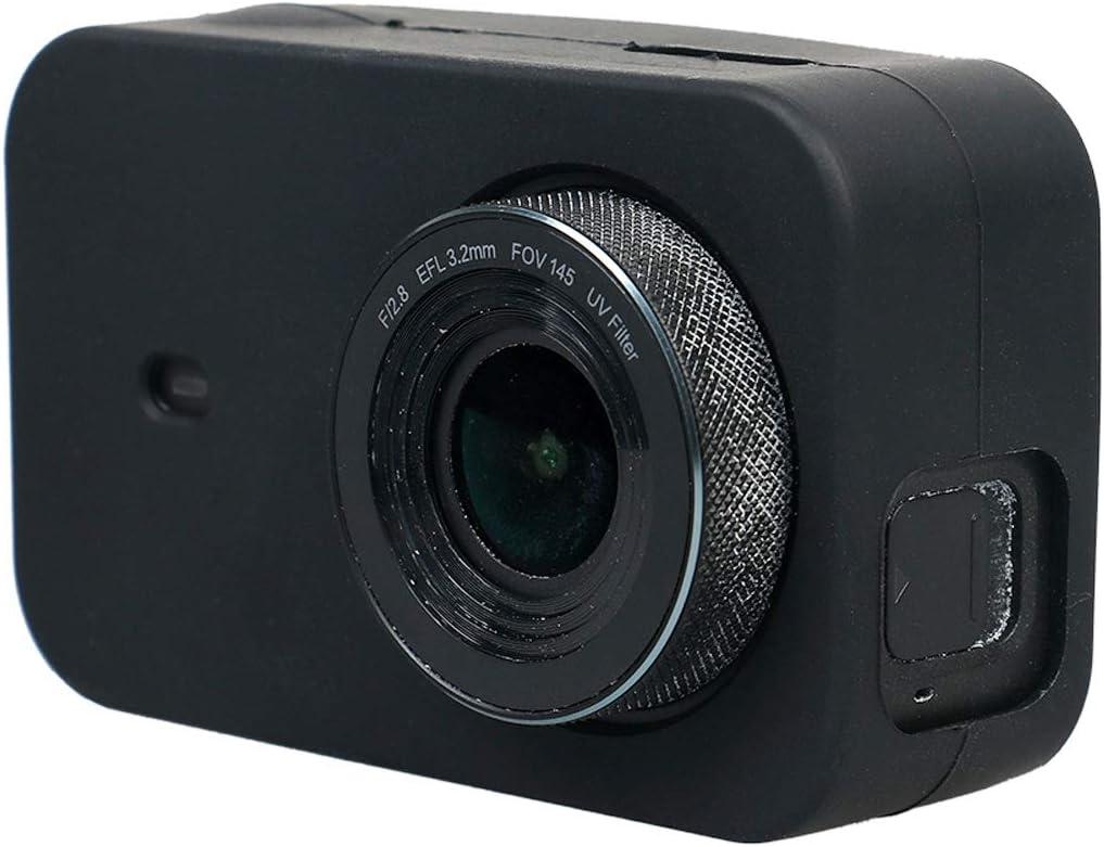 OEM Linxiucen Nuevo for Xiaomi Mijia pequeña cámara de Silicona Protectora con Tapa (Negro) (Color : Black)