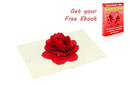 Amazon rose pop up card love popup cards for her him adults rose pop up card love popup cards for her him adults teen 3d handmade m4hsunfo