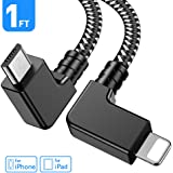 Obeka Compatible 1FT 90 Degree Micro USB to iOS Phone Tablet OTG Data Cable Right Angle Connector Cord DJI Spark, Mavic…