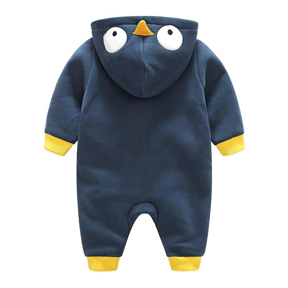Muchachos Animal Bebé Unisex - Nacido Infantil Animales Buzos Manga Larga  Algodón Trajes Mameluco Para Chicas Chicos Pingüinos Azul marino 0-3 Meses   ... 200b5e0627f