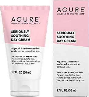 product image for Acure Seriously Soothing Day Cream | 100% Vegan | For Dry to Sensitive Skin | Argan Oil, Sunflower Amino Acids & Chamomille - Nourishes & Soothes | 1.7 Fl Oz