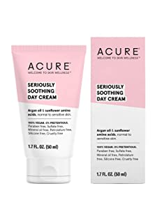 ACURE Seriously Soothing Day Cream | 100% Vegan | For Dry to Sensitive Skin | Argan Oil, Sunflower Amino Acids & Chamomille - Nourishes & Soothes | 1.7 Fl Oz
