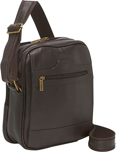 c66a187a9 Amazon.com: Le Donne Leather Men's Day Shoulder Bag, Café, Small ...