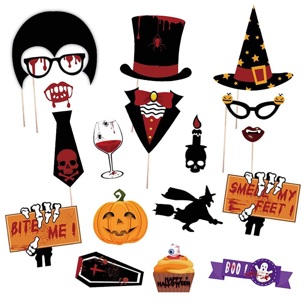 66Pcs Halloween Booth Props Creepy Trick Skull Zombie