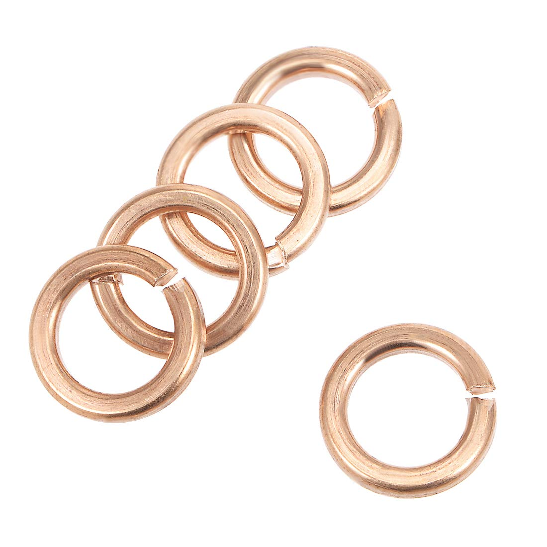 uxcell 5Pcs 30.3mm x 38mm x 1.5mm Copper Flat Washer for Screw Bolt