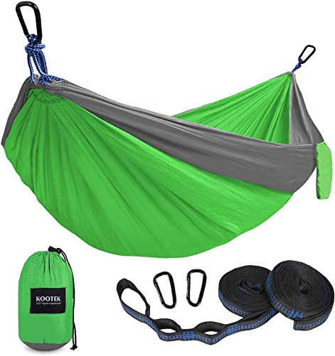 Huirotan Camping Hammock with Storage Bag Red Blue Stripe