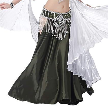 Insun Danza del Vientre Satén Faldas Largas Vestidos de Mujer ...